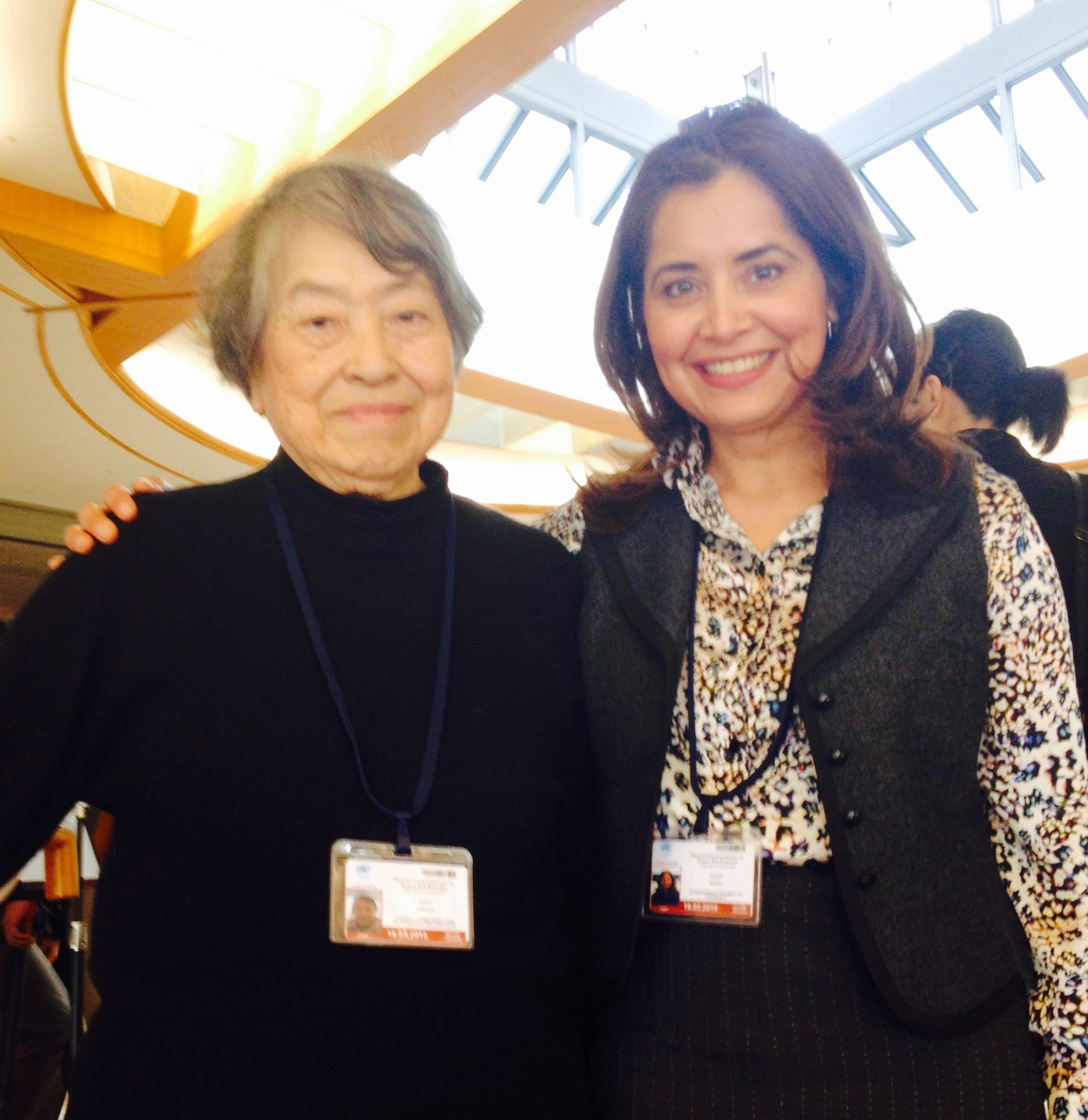 GLOBE co-founder Akiko Domoto and Malini Mehra